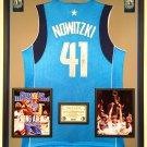 Premium Framed Dirk Nowitzki Signed Adidas Dallas Mavericks Jersey - GAI COA