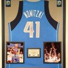 Premium Framed Dirk Nowitzki Signed Adidas Dallas Mavericks Jersey - GA COA
