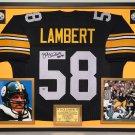 Premium Framed Jack Lambert Autographed Pittsburgh Steelers Jersey - Official Lambert Hologram