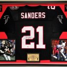 Premium Framed Deion Sanders Autographed Atlanta Falcons Mitchell & Ness Jersey - GTSM COA