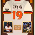 Premium Framed Tony Gwynn Autographed San Diego Padres Jersey - Official MLB Authentication