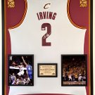 Premium Framed Kyrie Irving Autographed Cleveland Cavaliers Adidas Jersey - PSA COA