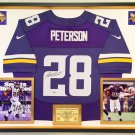 Premium Framed Adrian Peterson Autographed Minnesota Vikings Official Nike Jersey - PSA