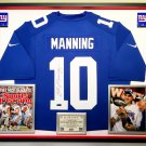 Premium Framed Eli Manning Autographed / Signed New York Giants Nike Jersey - AAA COA