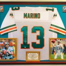 Premium Framed Dan Marino Autographed Official Mitchell & Ness Miami Dolphins Jersey - SCG COA