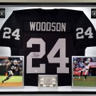 Premium Framed Charles Woodson Autographed Oakland Raiders Jersey - GTSM Authenticated