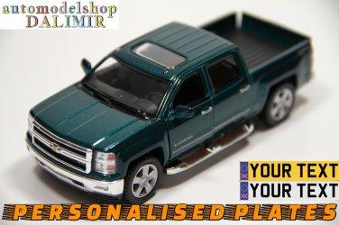 2014 Chevrolet Silverado green color Kinsmart diecast car model