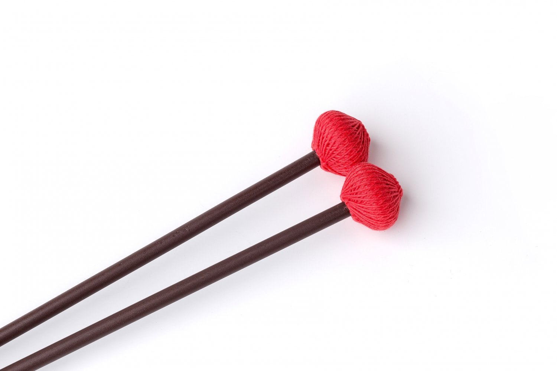 Ashkatan S90 Hard Marimba Mallets - Maple Handle, Red Yarn