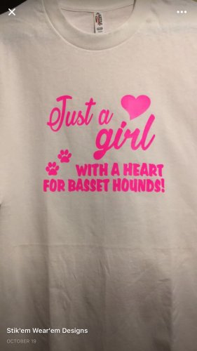 Just a Girl with a Heart for Basset Hounds T-Shirt