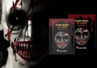 Halloween mask Fear Mask ghost mask skin ghost Maskpack 5pc for fun