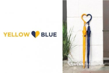heart couple umbrella 2pcs gift for couple special day raining day