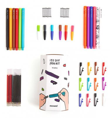 pen diy kit 12 color 12pcs office supply gift
