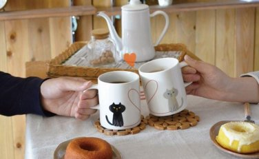 Neko Cat Paw Animal Mug Cup Coffee Tea Cute Gift Crazy Ca Funny drink milk couple 2pcs