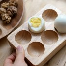 wood egg holder egg case kitchenware egg cups