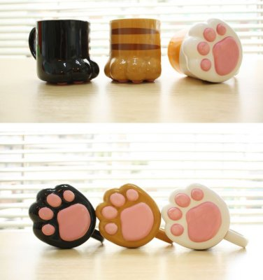 Neko Cat Paw Animal Mug Cup Coffee Tea Cute Gift Crazy Ca Funny drink milk 3pcs