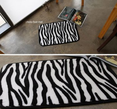 microfiber zebra foot mat door mat funny mat home decor