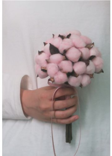 mini-Wedding-Bouquets-vintage-cotton-pink-dried-Flowers-wedding-flower-gift
