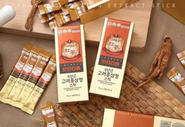 red ginseng extract stick 10g 30pcs antiaging stamina saponin for climacterium