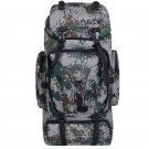 Hiking Backpacks 90L Camouflage Sports Bags For Men Women Large Camping Traveling Backpacks(green)