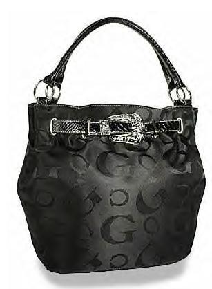 Signature Jacquard Belted Bucket Handbag