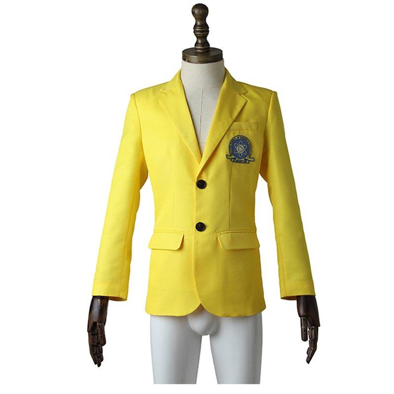 SpiderMan Homecoming Men's Uniform Cosplay Coat Yellow Suit For Halloween