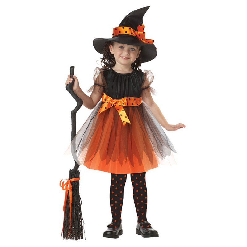 Girls Fairytale Toddler Witch Costume Dress For Halloween