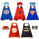 5PACK Superheros Cape and Mask for Kids Costume  masquerade, Halloween, stage performances