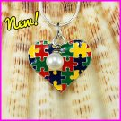 Autism Puzzle Heart Dangle Charm
