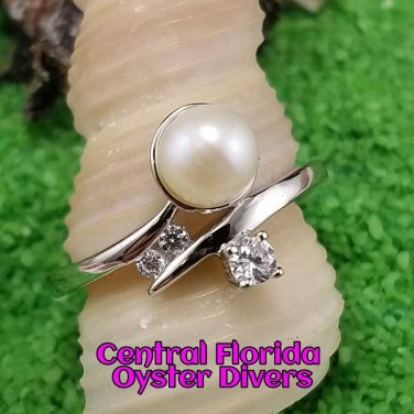 Pearl & Stone Ring 925SS