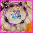 Purple Wire Wrap Dangle Bracelet
