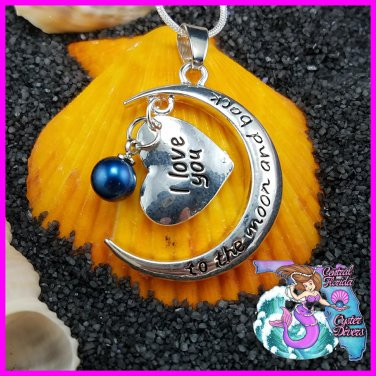 Love you to the moon and back Dangle