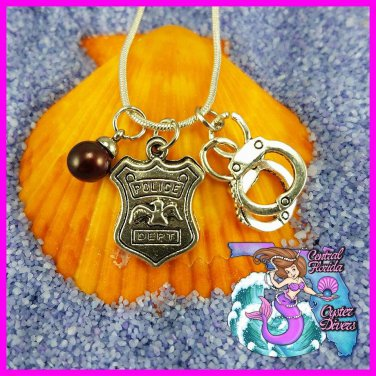 Police Badge and Cuffs Dangle