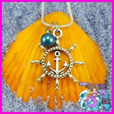Ship Wheel and Anchor Dangle