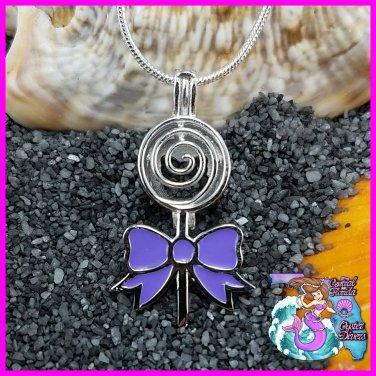 Lollipop w/ Purple Bow 925SS