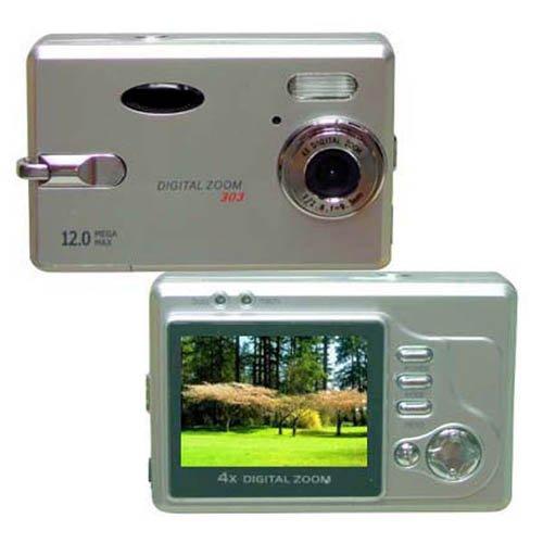 Digital Camera, 12M Pixel, 2.0-inch LCD, 16MB Int.Mem