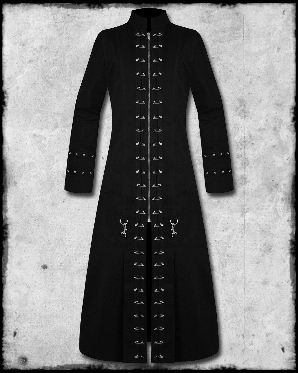 Handmade Men Black Hellraiser Goth Vampire Jacket