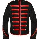 Men Black Parade Military Marching Banned Drummer Jacket
