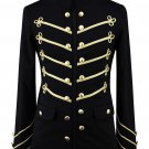"Man""s Gold Steampunk Black Military Napoleon Jacket Gothic"