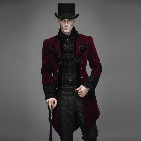 Gentlemen Mens Long Coat Steampunk
