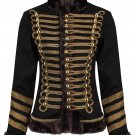 Women's Military Hussar Ladies Faux Fur Parade Jacket Music Festival Hendrix