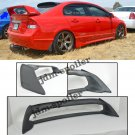 06-11 Civic Sedan Mugen RR Rear Spoiler FD2 FA2 W/ Red Emblems ABS Plastic