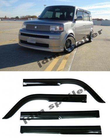 For 04-07 Scion xB Mugen Style Smoke Tint Side Window Visor Rain Guard Deflector