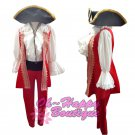 custom made deluxe adult men pirate cosplay costume red royal outfit halloween party