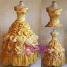 Beauty and the Beast belle dress women adult princess Belle costume cosplay