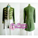 Princess Cinderella Prince Charming Kit Uniform Outfit Middle Ages Costume suit green