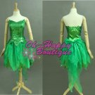 Tinkerbell Fairy Cosplay Costume TinkerBell Costume sparkle green dress Without Wing