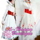 custom made Mary Poppins Dress Cosplay Costume Fairy Tale fancy dress white long dress dancing