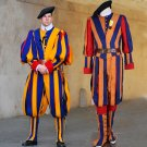 adult men soldiers cosplay costume papal swiss guard uniform costume
