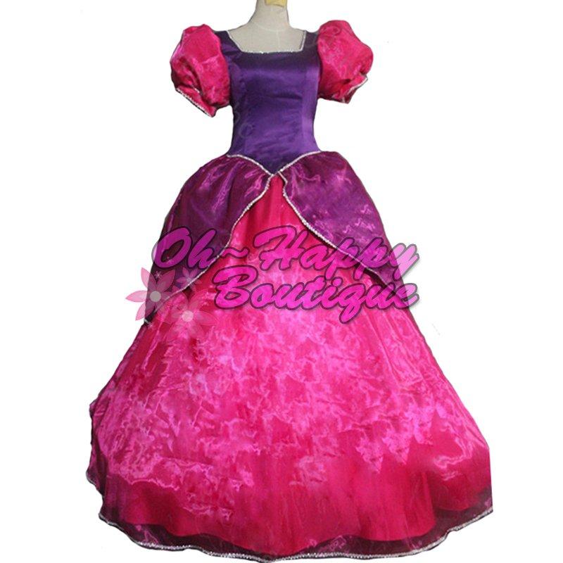 Cinderella Sisters dress Anastasia and Drizella adult women pink dress fancy