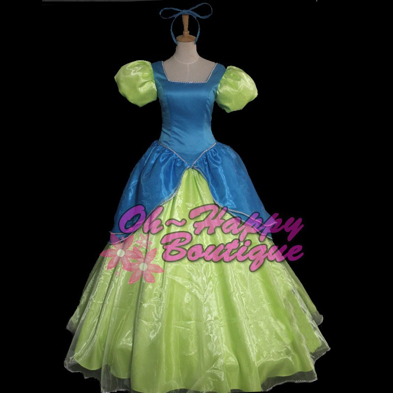Cinderella Sisters cosplay Costumes Anastasia and Drizella adult women party dress